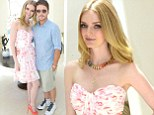 Aren't they sweet? Lydia Hearst cuddles up to boyfriend Kevin Connolly at launch party of her new blog