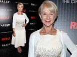 Thank goodness she's ditched the stripper shoes: Dame Helen Mirren wears demure heels and bright white dress at Red 2 premiere
