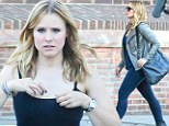 Case of the missing baby body! Kristen Bell shows off her post pregnancy figure on set as mystery solving character Veronica Mars