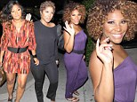 We are family! Tamar Braxton reveals her slender post-baby body in a purple jumpsuit as she heads out to dinner with her famous sisters Toni, Trina and Towanda