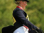 Daring: Pregnant Zara Phillips competing on her horse in the Brightling International Horse Trials last weekend