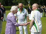 Brimfield players lined up to form a guard of honour for Her Majesty