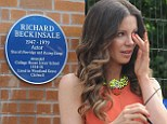 An emotional day! Kate Beckinsale sheds a tear as she unveils blue plaque in honour of her late father Richard