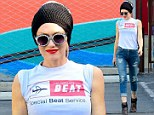 Bad hair day? Gwen Stefani dons massive knit beanie in 83-degree heat during Beverly Hills outing