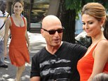 She's got talent! Howie Mandell stares at Maria Menounos' chest during Extra interview