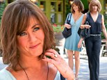 Bring back The Rachel! Jennifer Aniston wears dowdy brown wig on set of her new movie