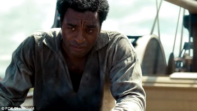 Troubled: Slave Northup faces an uncertain future in the film