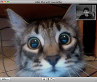 """She recognizes me on video chat!"""