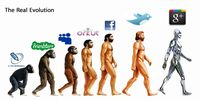 The real evolution: Human and social media compared