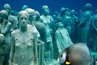 An underwater museum at Cancun, Mexico... Notoriously Wonderful!!!