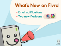 New on Flvrd: notification system and two new flavicons!