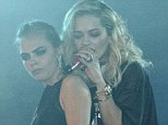 Not so close anymore? Former BFFs Cara Delevingne and Rita Ora have reportedly fallen out after Rita insulted the supermodel at Glastonbury