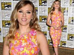Is that what the Black Widow would wear? Scarlett Johansson sports a demure floral summer dress at Comic Con presentation
