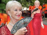 She's a jewel! Helen Mirren turns up the heat in a ruby red dress and it gets so hot she has to use a fan to cool down at Red 2 premiere