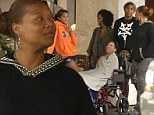 Queen Latifah takes her wheelchair-bound mother Rita to The Grove for family outing