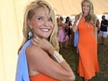 Sporting shape! Christie Brinkley, 59, shows off her curves in elegant one shoulder dress for summer polo games