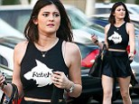Feeling rebellious, Kylie? The youngest of the Jenner-Kardashian clan wears telling T-shirt as she bares her midriff