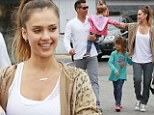 She really is living The Honest Life! Jessica Alba treats her family to Sunday brunch at a healthy organic eatery... dressing her girls in cute matching outfits