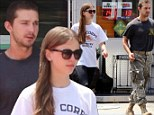 Actor Shia LaBeouf and his girlfriend Mia Goth enjoy a day out in Studio City.