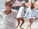Nicky Hilton hits the beach for a little relaxation