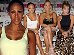 Real Housewives Melissa Gorga, Alexia Echevarria, and Marysol Patton sit front row together at swimsuit fashion show in Miami