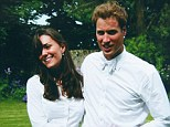 Happy couple: The Duke and Duchess of Cambridge on the day of their graduation ceremony at St Andrew's University in 2005. Almost eight years to the day after this Kate is about to have their baby