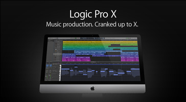 Logic Pro X. Music production. Cranked up to X.