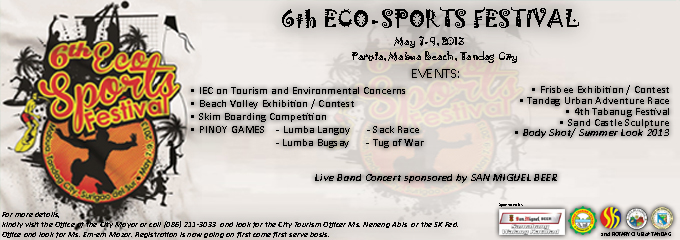 6th Eco-Sports Festival,  May 7-9, 2013