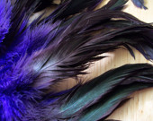 Purple Passion Schlappen -- over 50 feathers