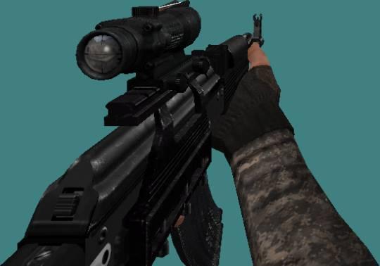 модель black Ak-47 Skope