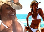 She's still got a cheerleader's body! Bring It On star Gabrielle Union, 40, shows off her very athletic frame in a white bikini