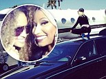 'TwerkLife never ends': Nicki Minaj bounces on the roof of her limo before boarding private jet to Miami for video shoot with Ciara