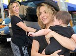 New mom: Shakira took her infant son Milan shopping on Saturday in Beverly Hills