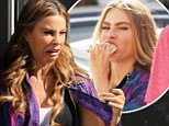 Not ready for her close-up! Sofia Vergara pulls an unflattering face before chomping on a sandwich on the set of Chef in Miami