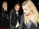 Deja vu: Ashlee Simpson and Evan Ross go on a double date to the same Hollywood trattoria for the third time in a week
