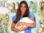 While Kensington Palace officials are said to have suggested antique furniture as more befitting a future king, the Duchess of Cambridge had her heart set on a Beatrix Potter theme for Prince George's nursery