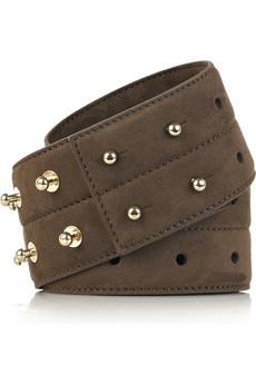 Stella McCartneyElastic faux suede belt