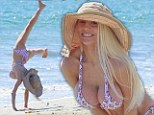 Miss Ocean Shores strikes again! Courtney Stodden squeezes her voluptuous DD-figure into a tiny bikini to hang loose on the beach