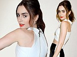 Skinny instrument! Lily Collins shows off her tiny figure in an even smaller crop top