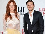 Together again? Riley Keough, shown in April, and Alex Pettyfer, shown on Monday, showed signs of a reunion at a Los Angeles film premiere