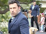 Family man: Ben Affleck plays taxi for his adorable daughters