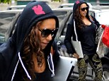 Leggings factor: Mel B makes her shapely legs the centre of attention in a pair of crazy tights