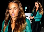 Suits you miss! Jessica Alba wears chic tuxedo-style jumpsuit as she enjoys a family dinner to celebrate daughter Haven's second birthday