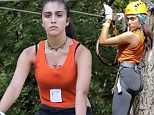 Fun in the sun! Lourdes Leon and her brother Rocco Ritchie mark his birthday week celebrations with zip-lining tour of the French Riviera