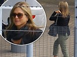 Jennifer Aniston arrives in London ahead of the UK premiere of her new film, We're the Millers