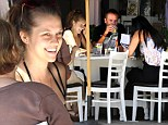 Tears of baby joy! Teresa Palmer gets weepy as she shows her sonogram to a friend over lunch with her fiance and mother