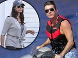 Simon Cowell jet-skis alone off the Corsica coast amidst reports he 'won't see Lauren Silverman until things calm down'