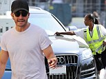 Jake Gyllenhaal is slapped with a parking ticket after enjoying a lunch with a pal in Hollywood