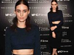 Top of the crops! Rooney Mara shows off her incredibly toned tummy in midriff-baring outfit at Ain't Them Bodies Saints screening