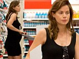 Shopping for two: Michelle Monaghan shows off her growing baby bump on a supermarket trip